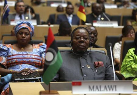 Former Malawi President Bingu wa Mutharika is seen during the 18th African Union (AU) summit in Ethiopia's capital Addis Ababa January 28, 2012. REUTERS/Noor Khamis