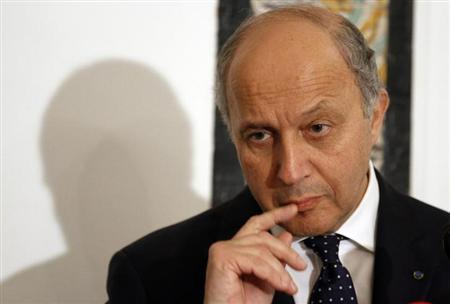 French Minister for Foreign Affairs Laurent Fabius speaks during a media conference in Tunis May 14, 2013. REUTERS/Anis Mili