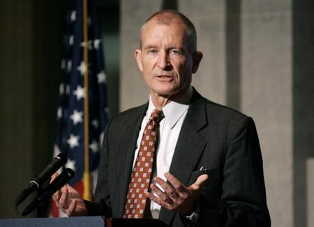 Director of National Intelligence Dennis Blair delivers a speech on ''the future of the U.S. intelligence community'' to the U.S. Chamber of Commerce National Security Task Force in Washington July 22, 2009. REUTERS/Richard Clement