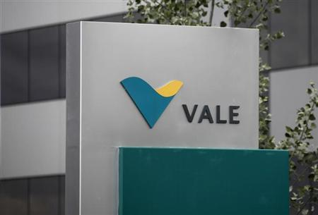 Vale's logo is pictured outside their central sales office in Saint-Prex near Geneva June 4, 2012. REUTERS/Denis Balibouse