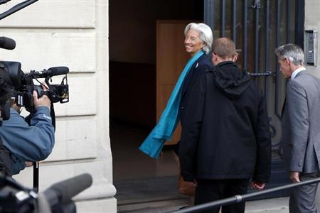 IMF chief Christine Lagarde arrives to be questioned by a French magistrate in Paris May 23, 2013. REUTERS/Charles Platiau