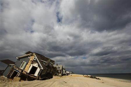 A home destroyed nearly five months ago during the landfall of Superstorm Sandy is pictured in Mantoloking, New Jersey March 22, 2013. REUTERS/Lucas Jackson