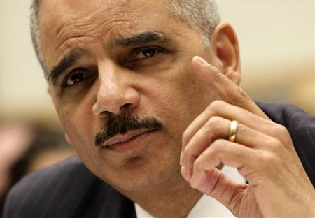 Attorney General Eric Holder testifies before a House Judiciary Committee hearing on ''Oversight of the United States Department of Justice'' on Capitol Hill in Washington May 15, 2013. REUTERS/Yuri Gripas