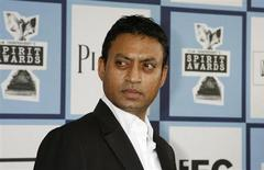 "Best Supporting Male nominee Irrfan Khan of ""The Namesake"" arrives at the 2008 Film Independent's Spirit Awards in Santa Monica, California, February 23, 2008. REUTERS/Fred Prouser"