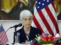 Wendy Sherman, U.S. under secretary of state for political affairs, talks during a news conference in Dhaka May 27, 2013. REUTERS/Andrew Biraj