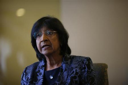 U.N. High Commissioner for Human Rights Navi Pillay speaks to Reuters at her hotel in Madrid April 5, 2013. REUTERS/Susana Vera