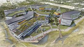 The proposed Google corporate headquarters in Mountain View, California, is pictured in this artist's rendering courtesy of NBBJ. NBBJ/Handout via Reuters