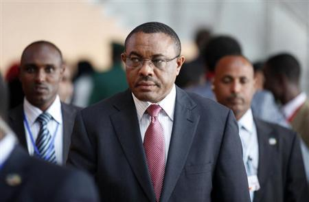 Ethiopian Prime Minister Hailemariam Desalegn arrives at the African Union Headquarters for the 21st Ordinary Session of the Assembly of Heads of States and Government in capital Addis Ababa May 26, 2013. REUTERS/Tiksa Negeri