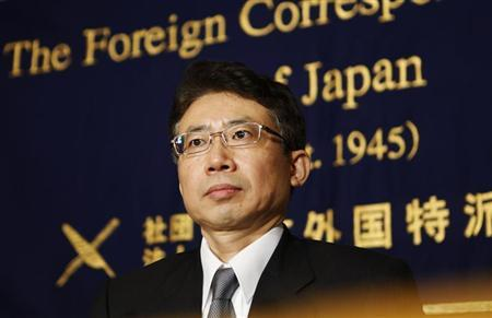 Bank of Japan (BOJ) board member Ryuzo Miyao attends a news conference at the Foreign Correspondents' Club of Japan in Tokyo May 28, 2013. REUTERS/Yuya Shino