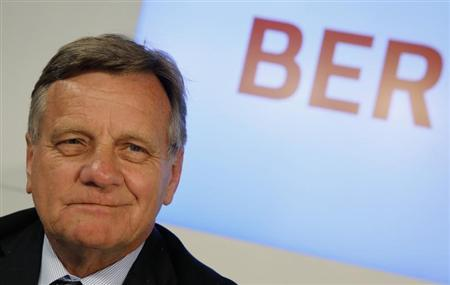 Hartmut Mehdorn addresses a news conference at the construction site of the future Berlin Brandenburg international airport Willy Brandt (BER) in Schoenefeld, March 8, 2013. Mehdorn was named on Friday as new head of the Berlin Brandenburg International (BBI) airport. REUTERS/Fabrizio Bensch