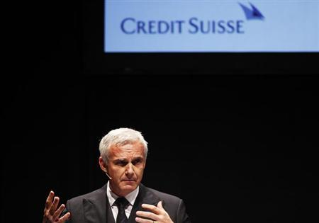 Swiss bank Credit Suisse Chairman Urs Rohner gestures during the Capital Market Forum in Zurich September 3, 2012. REUTERS/Michael Buholzer