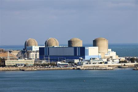 The Kori nuclear power plant in Busan, southeast of Seoul, is seen in this picture released by the plant to Reuters on April 14, 2011. REUTERS/Kori Nuclear Power Plant/Handout