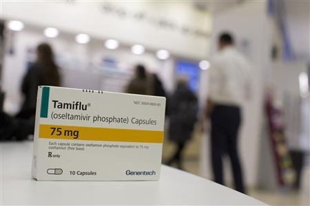 A box of Tamiflu is pictured at a Duane Reade pharmacy in New York January 10, 2013. REUTERS/Andrew Kelly
