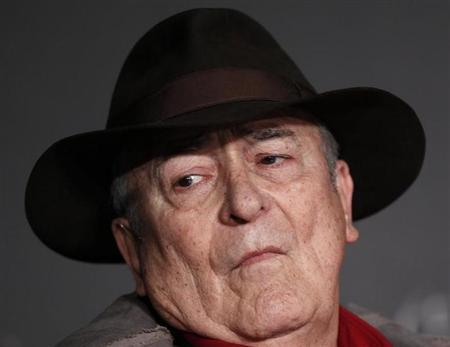 Director Bernardo Bertolucci attends a news conference for the film ''Io E Te'', at the 65th Cannes Film Festival, May 23, 2012. REUTERS/Jean-Paul Pelissier