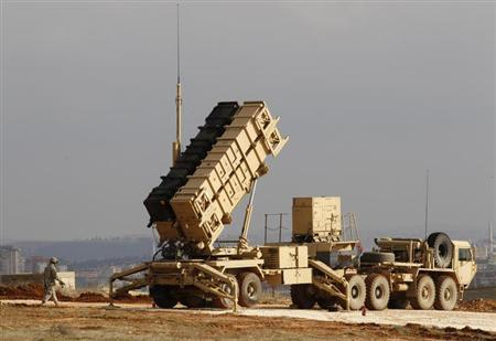 A U.S. Patriot missile system is seen at a Turkish military base in Gaziantep February 5, 2013. REUTERS/Osman Orsal