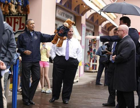 Obama and Christie tour Jersey shore