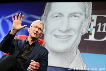 Apple CEO Tim Cook is seen during the ''All Things Digital'' D11 conference in Rancho Palos Verdes, California, May 28, 2013. REUTERS/Asa Mathat/All Things Digital, D11conference/Handout