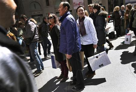 Chinese tourists are arriving in big numbers. Photo from Reuters