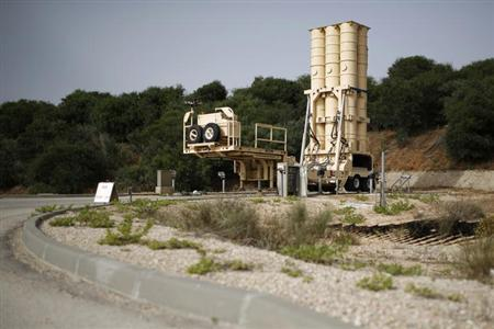 An Arrow II battery, a U.S.-backed Israeli missile shield, is seen at Palmachim base, south of Tel Aviv May 29, 2013. REUTERS/Amir Cohen