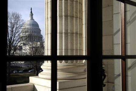 A general view of the U.S. Capitol is seen from the Russell Senate Office Building in Washington, February 25, 2013. REUTERS/Jonathan Ernst