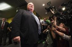 Toronto Mayor Rob Ford holds a press conference at City Hall in Toronto, May 30, 2013. REUTERS/Mark Blinch