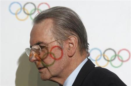 International Olympic Committee (IOC) President Jacques Rogge leaves after a news conference during the IOC Executive Board meeting, part of the annual SportAccord convention, in St. Petersburg, May 31, 2013. REUTERS/Alexander Demianchuk