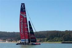 Emirates Team New Zealand sails in San Francisco bay May 31, 2013. REUTERS/Noel Randewich