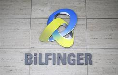 The logo of German industrial services provider Bilfinger is pictured on their headquarters in Mannheim January 21, 2013. REUTERS/Lisi Niesner