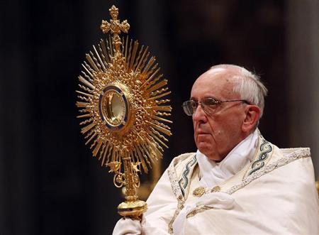 Pope Leads Catholics in First Worldwide