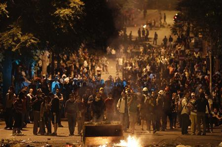 Anti-government protesters clash with riot police during a demonstration in Ankara late June 2, 2013. REUTERS-Umit Bektas