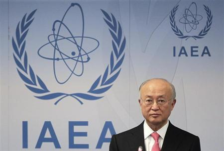 International Atomic Energy Agency (IAEA) Director General Yukiya Amano reacts as he attends a news conference during a board of governors meeting at the UN headquarters in Vienna March 4, 2013. REUTERS/Herwig Prammer