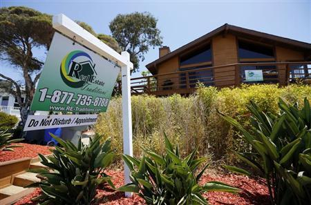 A single family home is shown for sale in Encinitas, California May 22, 2013. REUTERS/Mike Blake