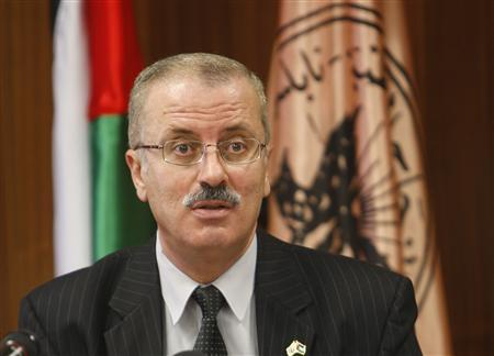 Rami Hamdallah, president of al-Najah National University, speaks during a meeting at the university in the West Bank city of Nablus February 14, 2010. REUTERS/Abed Omar Qusini