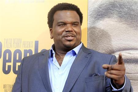 Actor Craig Robinson, one of the stars of the new film ''Peeples'' produced by Tyler Perry arrives at the film's premiere in Hollywood May 8, 2013. REUTERS/Fred Prouser