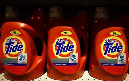 Tide detergent, a Procter & Gamble (P&G) product, is displayed on a shelf at a store in Tempe, Arizona October 29, 2009. REUTERS/Joshua Lott