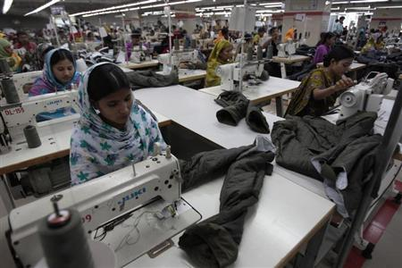 Women work at a garment factory in Savar July 27, 2012. REUTERS/Andrew Biraj