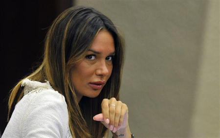 Nicole Minetti looks on during Lombardy regional council in Milan July 17, 2012. REUTERS/Paolo Bona