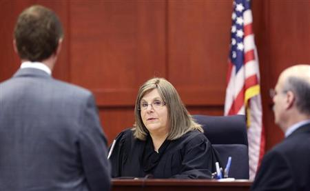 Circuit judge Debra Nelson listens to attorneys in the George Zimmerman pre-trial hearing in Seminole circuit court in Sanford, Florida, June 7, 2013. REUTERS/Joe Burbank/Orlando Sentinel/Pool