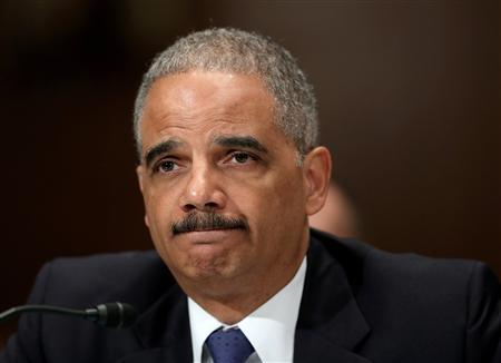 U.S. Attorney General Eric Holder testifies before a Senate Appropriations Commerce, Justice, Science and Related Agencies subcommittee on the Justice Department's FY2014 Budget Request in Washington June 6, 2013. REUTERS/Gary Cameron