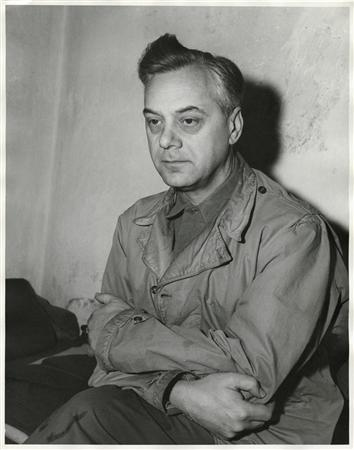 Defendant Alfred Rosenberg, the former Chief Nazi Party Ideologist, sits in his jail cell during the International Military Tribunal trial of war criminals at Nuremberg in this photograph taken by a United States Army Signal Corps photographer in Nuremberg on November 24, 1945. Rosenberg was hanged at Nuremberg after his conviction. REUTERS/United States Army Signal Corps/Handout