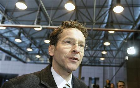 Netherlands' Finance Minister Jeroen Dijsselbloem arrives at a Euro Zone finance ministers meeting in Brussels January 21, 2013. REUTERS/Eric Vidal