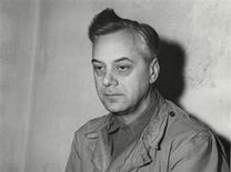 Defendant Alfred Rosenberg, the former Chief Nazi Party Ideologist, sits in his jail cell during the International Military Tribunal trial of war criminals at Nuremberg in this photograph taken by a United States Army Signal Corps photographer in Nuremberg on November 24, 1945. REUTERS/United States Army Signal Corps/Handout