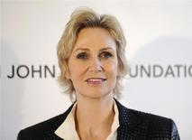 "Actress Jane Lynch of the ""Glee"" TV series arrives at the 2013 Elton John AIDS Foundation Oscar Party in West Hollywood, California, February 24, 2013. REUTERS/Gus Ruelas"