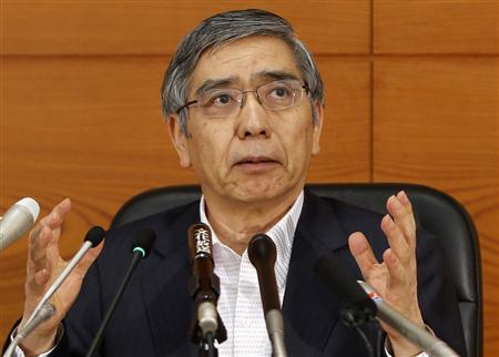 Bank of Japan (BOJ) Governor Haruhiko Kuroda speaks at a news conference at the BOJ headquarters in Tokyo June 11, 2013. REUTERS/Yuya Shino
