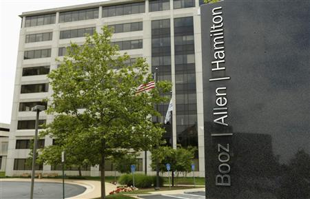 The Booz Allen Hamilton Holding Corp office building is seen in McLean, Virginia June 11, 2013. Contracting firm Booz Allen Hamilton Holding Corp said on Tuesday it has fired Edward Snowden, who admitted to releasing information on the U.S. government's broad monitoring of American's phone and Internet data, for violating the firm's ethics and policies. REUTERS/Kevin Lamarque