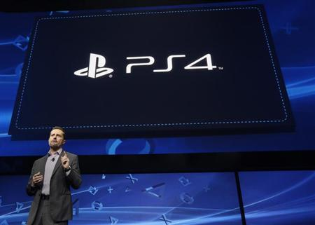 Andrew House, president and Group CEO of Sony Computer Entertainment, speaks during the unveiling of the PlayStation 4 launch event in New York, February 20, 2013. REUTERS/Brendan McDermid/Files