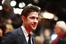Actor John Krasinski arrives for the screening of the film 'Promised Land' at the 63rd Berlinale International Film Festival in Berlin February 8, 2013. REUTERS/Thomas Peter