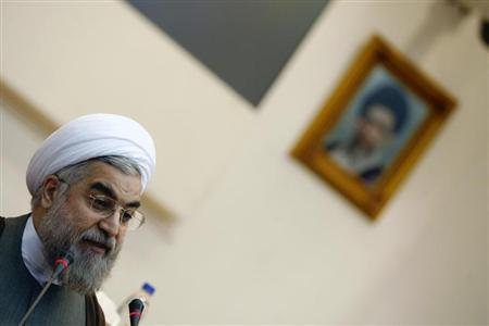 Former chief nuclear negotiator Hassan Rohani speaks during a conference at the Expediency Council's Research and Strategic Studies Center in Tehran February 27, 2008. REUTERS/Stringer