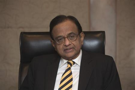 India's Finance Minister Palaniappan Chidambaram attends a news conference in Hong Kong January 22, 2012. REUTERS/Tyrone Siu
