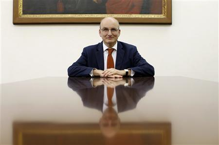 President of the Vatican bank Ernst von Freyberg poses in his office at the Vatican June 10, 2013. Picture take June 10, 2013. To match interview VATICAN-BANK/ REUTERS/Tony Gentile